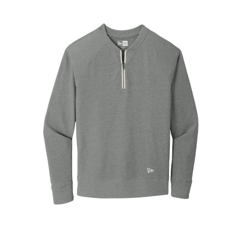 Shadow Grey Heather Custom New Era Sueded Cotton Blend 1/4-Zip Pullover