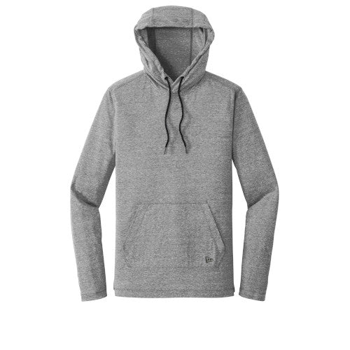 Shadow Grey Custom New Era Tri-Blend Performance Pullover Hoodie Tee