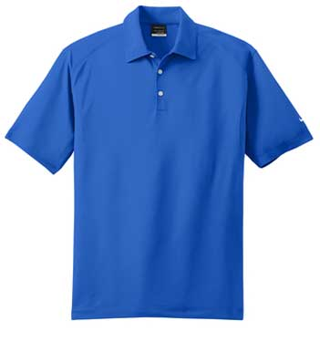 Signal Blue Nike Dri-FIT Mini Texture Polo With Logo