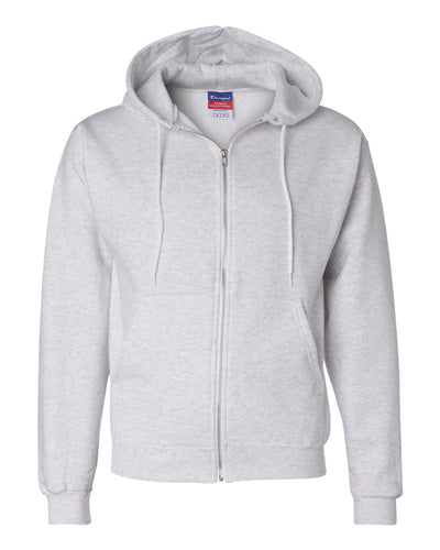 Silver Grey Custom Champion Full Zip Hoodie Sweatshirt