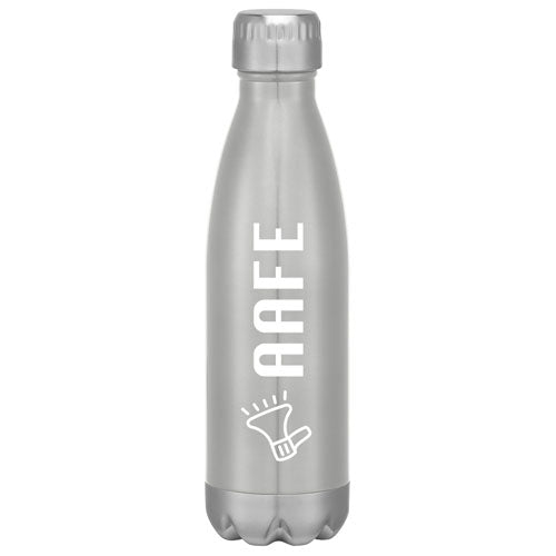Silver Custom Cola Shaped Stainless Steel Bottle