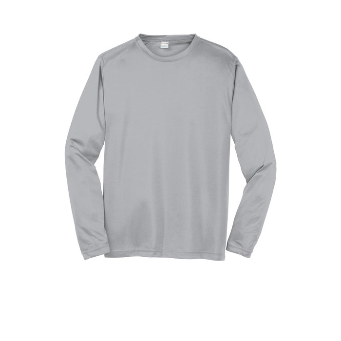 Silver Custom Long Sleeve Dry Performance T-Shirt