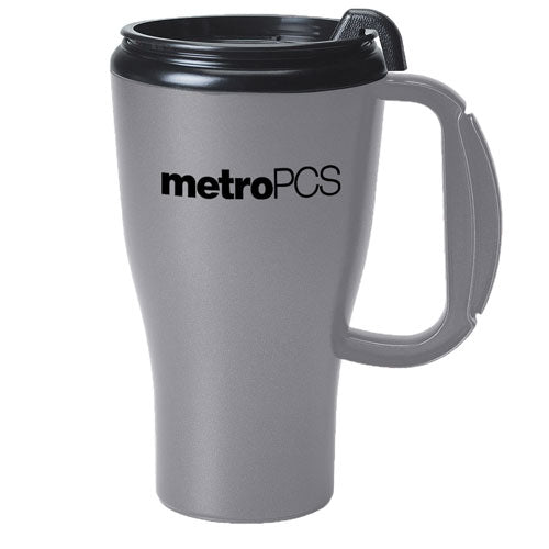Silver Custom Travel Mug 16oz