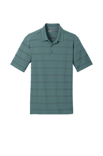 Sport Teal/Anthracite Nike Dri-FIT Fade Stripe Polo WIth Logo