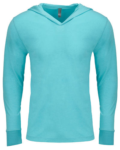 Tahiti Blue Custom Next Level Adult Triblend Long-Sleeve Hoody