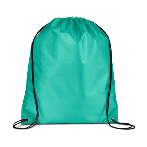 Teal Custom Drawstring Backpack
