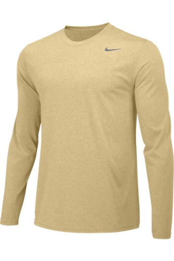 Team Gold Custom Nike Dri-FIT Long Sleeve T-Shirt