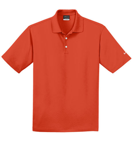 Team Orange Nike Dri-FIT Micro Pique Polo With Logo