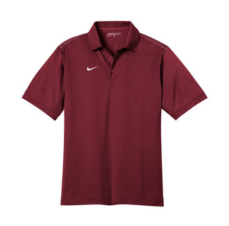 Team Red Nike Dri-FIT Sport Swoosh Pique Polo With Logo