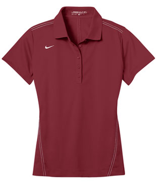 Team Red Nike Dri-FIT Ladies Sport Swoosh Pique Polo With Logo