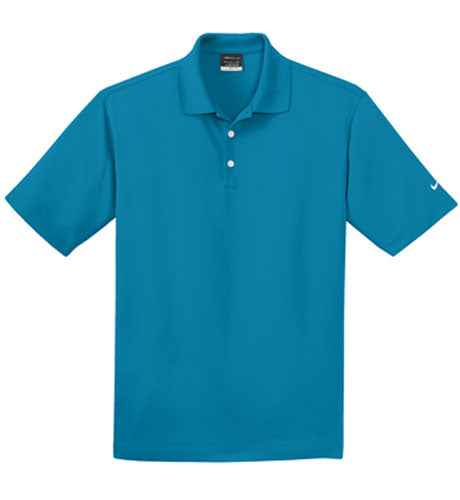 Tidal Blue Nike Dri-FIT Micro Pique Polo With Logo