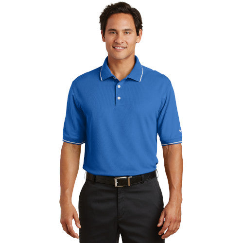 Tipped Nike Dri-FIT Golf Shirt With Logo