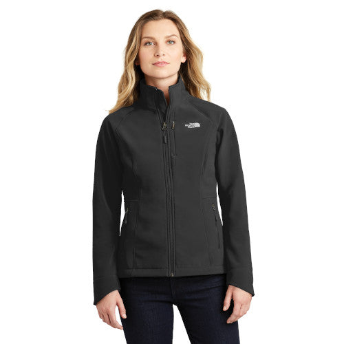 TNF Black Custom The North Face Ladies Soft Shell Jacket with logo