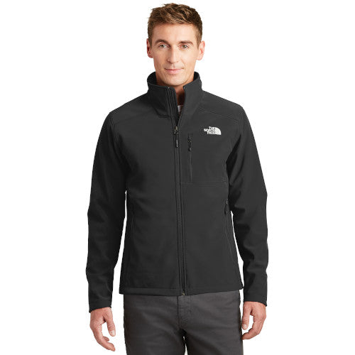 TNF Black Custom The North Face Soft Shell Jacket with logo