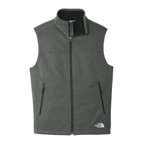 TNF Dark Grey Custom The North Face Soft Shell Vest Jacket