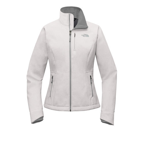 TNF Light Grey Heather Custom The North Face Ladies Soft Shell Jacket