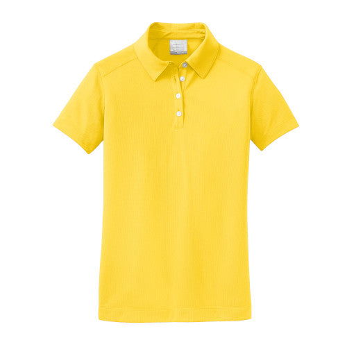 Tour Yellow Nike Dri-FIT Ladies Texture Shirt With Logo