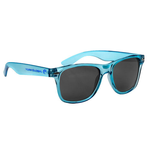 Transparent Blue Custom Malibu Sunglasses