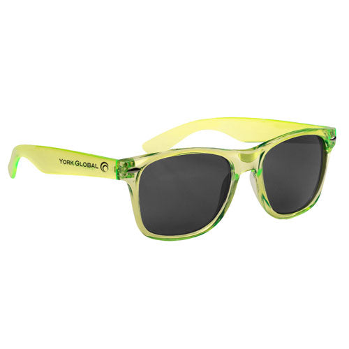 Transparent Lime Custom Malibu Sunglasses