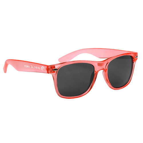 Transparent Orange Custom Malibu Sunglasses