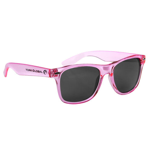 Transparent Pink Custom Malibu Sunglasses