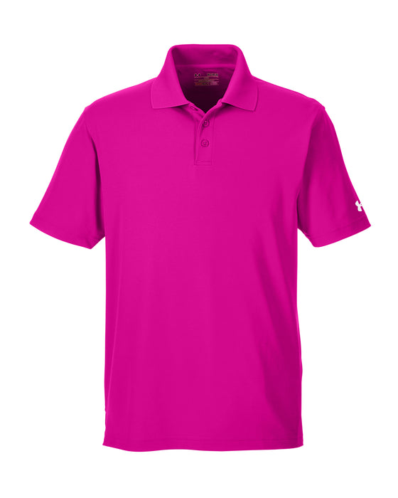 Tropic Pink Custom Under Armour Performance Polo With Logo