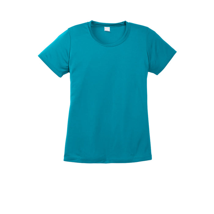 Tropical Blue Custom Ladies Dry Performance T-Shirt