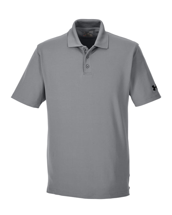 True Gray Custom Under Armour Performance Polo With Logo