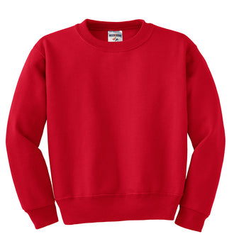 True Red Custom Jerzees Youth Sweatshirt