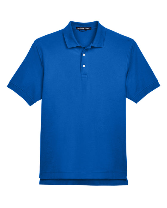 True Royal Custom Devon & Jones Pima Pique Polo With Logo