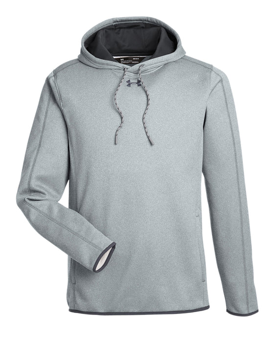 True Grey Heather/Stealth Grey Custom Under Armour Team Hoodie