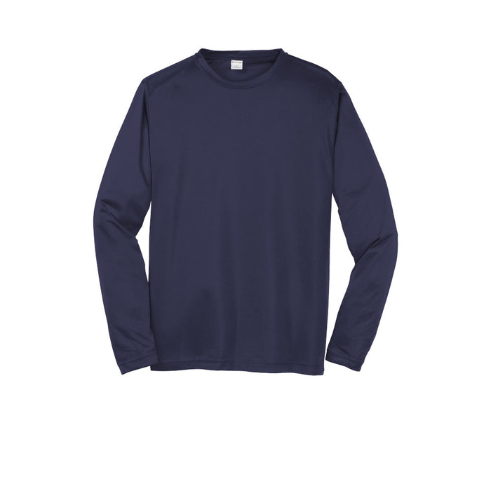 True Navy Custom Long Sleeve Dry Performance T-Shirt
