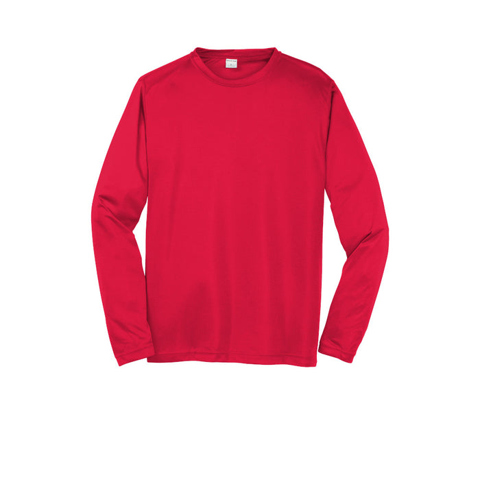 True Red Custom Long Sleeve Dry Performance T-Shirt