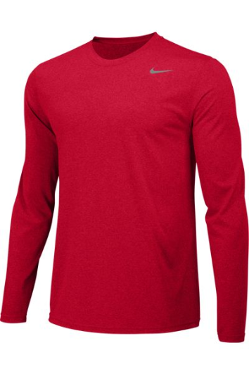 University Red Custom Nike Dri-FIT Long Sleeve T-Shirt