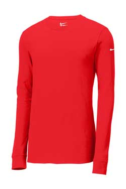 University Red Custom Nike Cotton Long Sleeve Tee