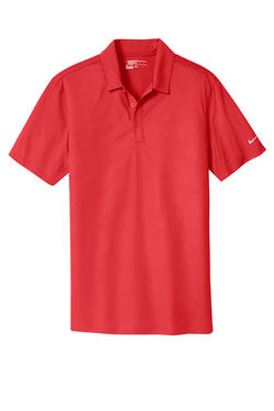 University Red Nike Dri-FIT Embossed Tri-Blade Polo With Logo
