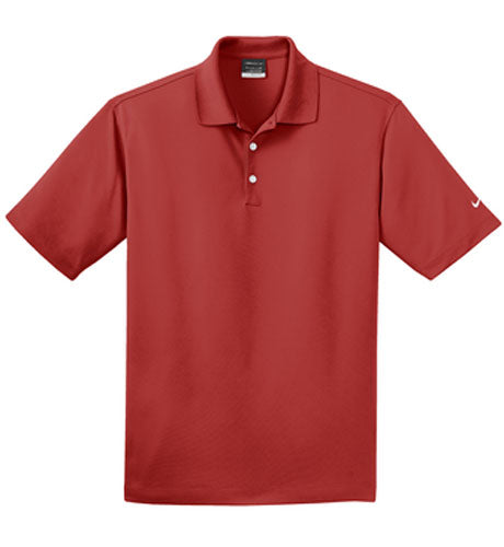 Vanity Red Nike Dri-FIT Micro Pique Polo With Logo