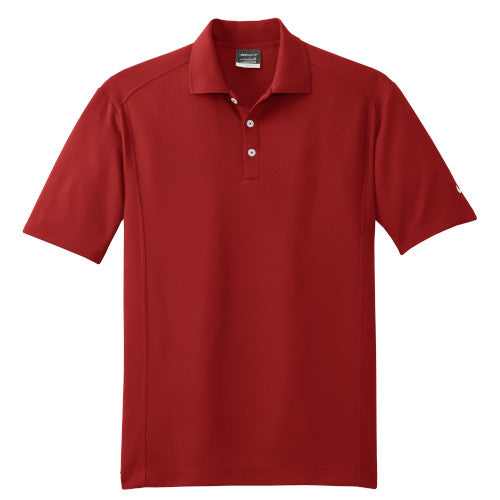 Varsity Red Nike Dri-FIT Golf Shirt With Logo
