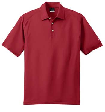 Varsity Red Nike Dri-FIT Mini Texture Polo With Logo