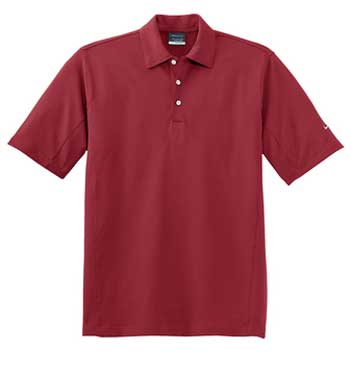 Varsity Red Nike Sphere Dry Diamond Polo With Logo