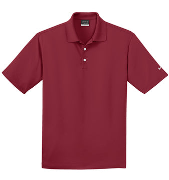Varsity Red Nike Tall Dri-FIT Micro Pique Polo With Logo