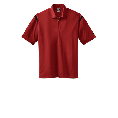 Varsity Red/White Nike Dri-FIT Shoulder Stripe Polo With Logo
