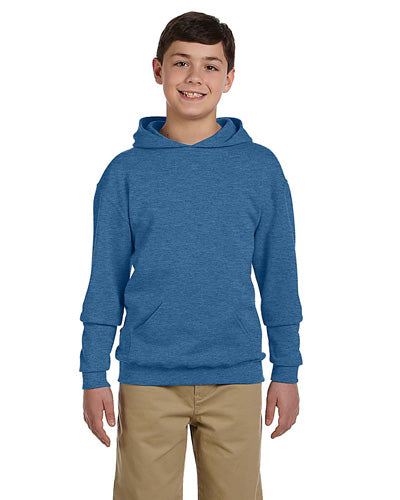 Vintage Heather Blue Custom Jerzees Youth Hooded Sweatshirt