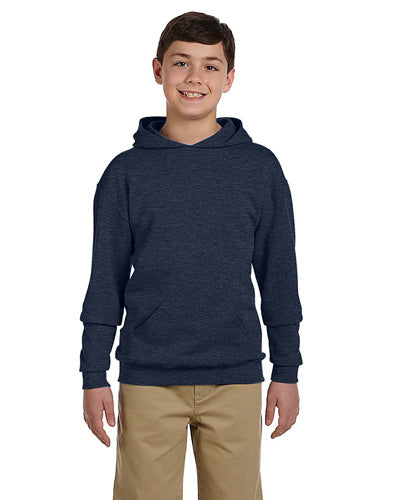 Vintage Heather Navy Custom Jerzees Youth Hooded Sweatshirt