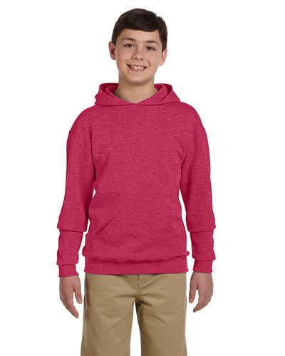 Vintage Heather Red Custom Jerzees Youth Hooded Sweatshirt