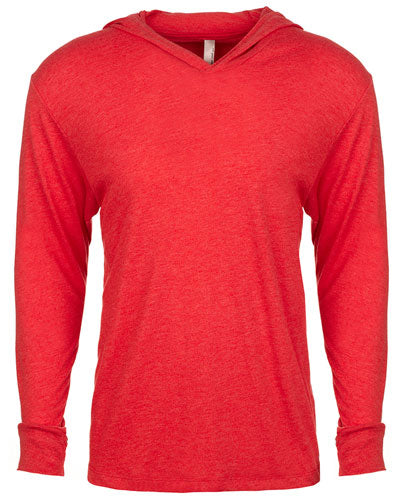 Vintage Red Custom Next Level Adult Triblend Long-Sleeve Hoody