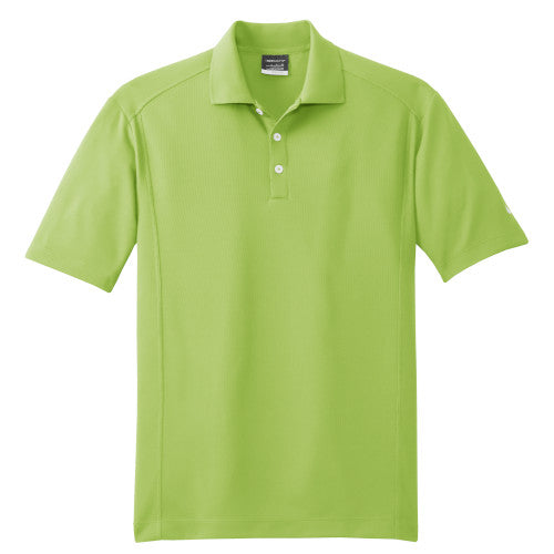 Vivid Green Nike Dri-FIT Golf Shirt With Logo
