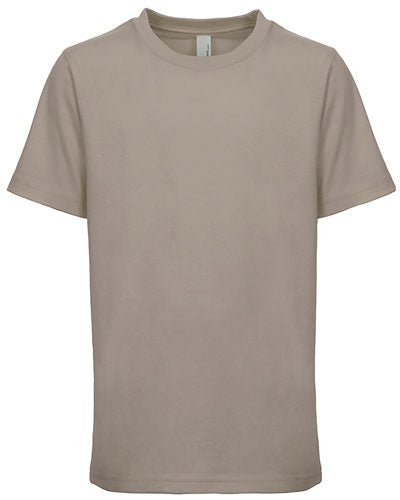 Warm Grey Custom Next Level Youth Boys' Cotton Crew
