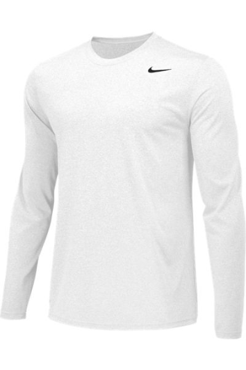 White Custom Nike Dri-FIT Long Sleeve T-Shirt