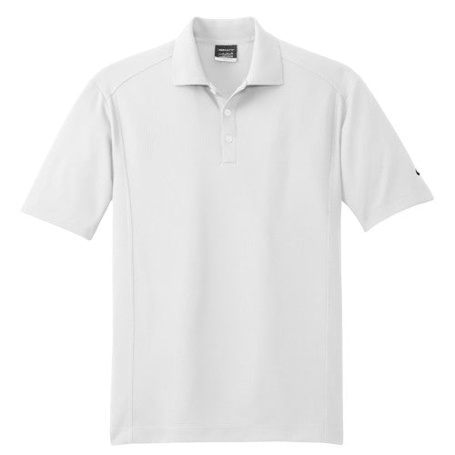 White Nike Dri-FIT Golf Shirt With Logo